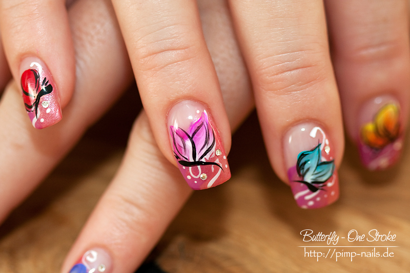 Nail Art Butterfly1