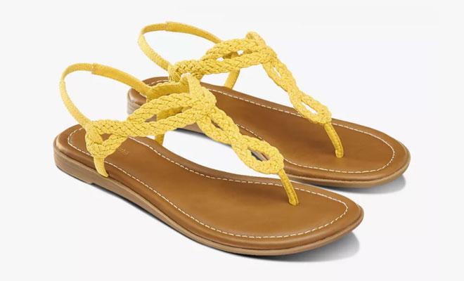 Sandale in Gelb